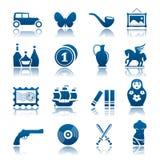 Conjunto del icono de la recogida y de la manía Fotos de archivo libres de regalías