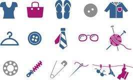 Conjunto del icono de la ropa Foto de archivo