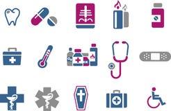 Conjunto del icono de la salud Imágenes de archivo libres de regalías