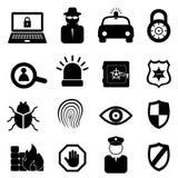 Conjunto del icono de la seguridad Foto de archivo libre de regalías