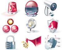 Conjunto del icono de la seguridad del vector ilustración del vector