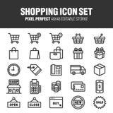 Conjunto del icono de las compras libre illustration