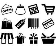 Conjunto del icono de las compras Imagen de archivo