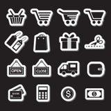 Conjunto del icono de las compras Serie de Simplus Fotos de archivo