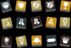 Conjunto del icono de las divisas stock de ilustración