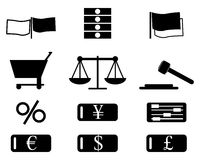 Conjunto del icono de las finanzas ilustración del vector