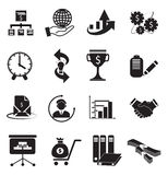 Conjunto del icono de las finanzas Imágenes de archivo libres de regalías