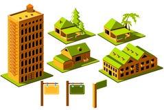 Conjunto del icono de las propiedades inmobiliarias