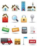 Conjunto del icono de las propiedades inmobiliarias -- Serie superior