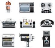 Conjunto del icono de las tecnologías de la vendimia Foto de archivo libre de regalías