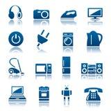Conjunto del icono de los aparatos electrodomésticos Fotografía de archivo libre de regalías