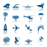 Conjunto del icono de los aviones Libre Illustration