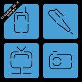 Conjunto del icono de los bienes de consumo Fotos de archivo