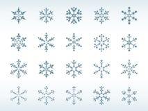 Conjunto del icono de los copos de nieve ilustración del vector