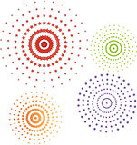 Conjunto del icono de los círculos Fotos de archivo