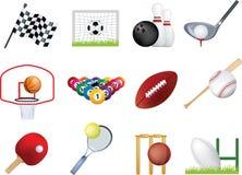 Conjunto del icono de los deportes Imagenes de archivo