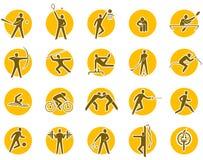 Conjunto del icono de los deportes Fotografía de archivo libre de regalías