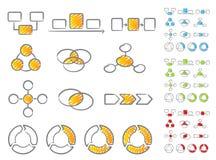 Conjunto del icono de los diagramas Imagenes de archivo