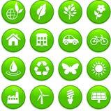 Conjunto del icono de los elementos del ambiente Foto de archivo