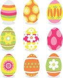 Conjunto del icono de los huevos de Pascua ilustración del vector
