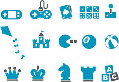 Conjunto del icono de los juegos Fotos de archivo libres de regalías