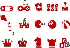 Conjunto del icono de los juegos Fotografía de archivo
