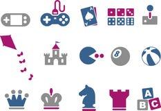 Conjunto del icono de los juegos Foto de archivo