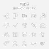 Conjunto del icono de los media stock de ilustración
