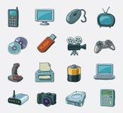Conjunto del icono de los multimedia Ilustración del Vector