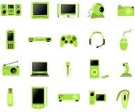 Conjunto del icono de los multimedia Fotografía de archivo
