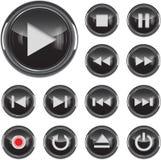 Conjunto del icono de los multimedia Fotografía de archivo libre de regalías
