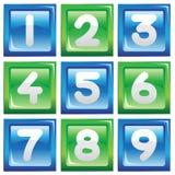 Conjunto del icono de los números Imágenes de archivo libres de regalías
