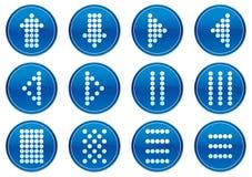 Conjunto del icono de los símbolos de la matriz. Imágenes de archivo libres de regalías
