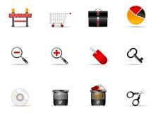 Conjunto del icono de Melo. Icono #6 del Web site y del Internet Fotos de archivo libres de regalías