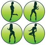 Conjunto del icono de presentación de las muchachas Imagen de archivo libre de regalías