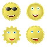 Conjunto del icono de Sun Foto de archivo libre de regalías