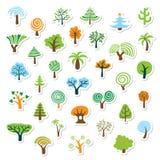 Conjunto del icono del árbol Fotos de archivo libres de regalías