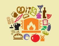 Conjunto del icono del alimento stock de ilustración