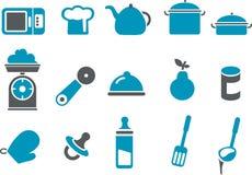 Conjunto del icono del alimento Imagenes de archivo