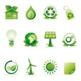 conjunto del icono del ambiente ilustración del vector