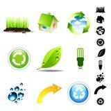 Conjunto del icono del ambiente Fotografía de archivo libre de regalías