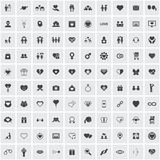 Conjunto del icono del amor Imagen de archivo libre de regalías