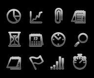 Conjunto del icono del asunto del vector Foto de archivo libre de regalías