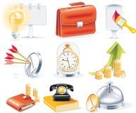Conjunto del icono del asunto del vector Imágenes de archivo libres de regalías