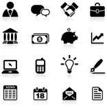 Conjunto del icono del asunto y de la comunicación Imagen de archivo libre de regalías
