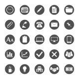 Conjunto del icono del asunto y de las finanzas Imagenes de archivo