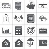 Conjunto del icono del asunto y de las finanzas Vector Fotografía de archivo libre de regalías