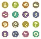 Conjunto del icono del baloncesto Fotografía de archivo