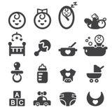 Conjunto del icono del bebé Fotos de archivo