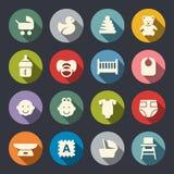 Conjunto del icono del bebé Ilustración del vector Imágenes de archivo libres de regalías